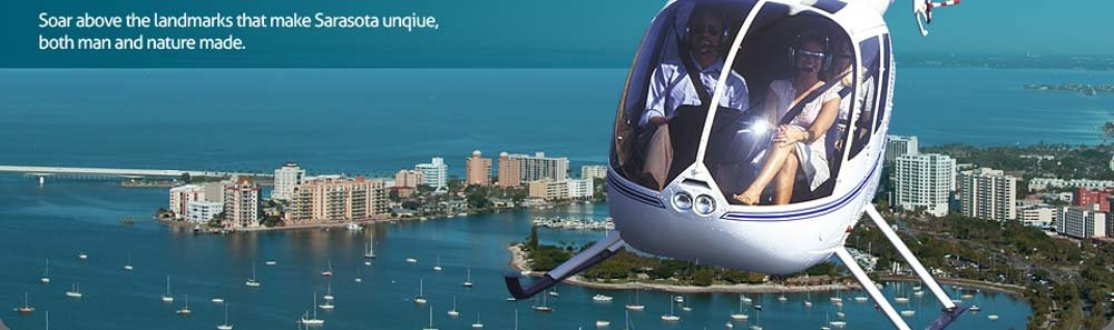 Helicopter tour of Sarasota Florida